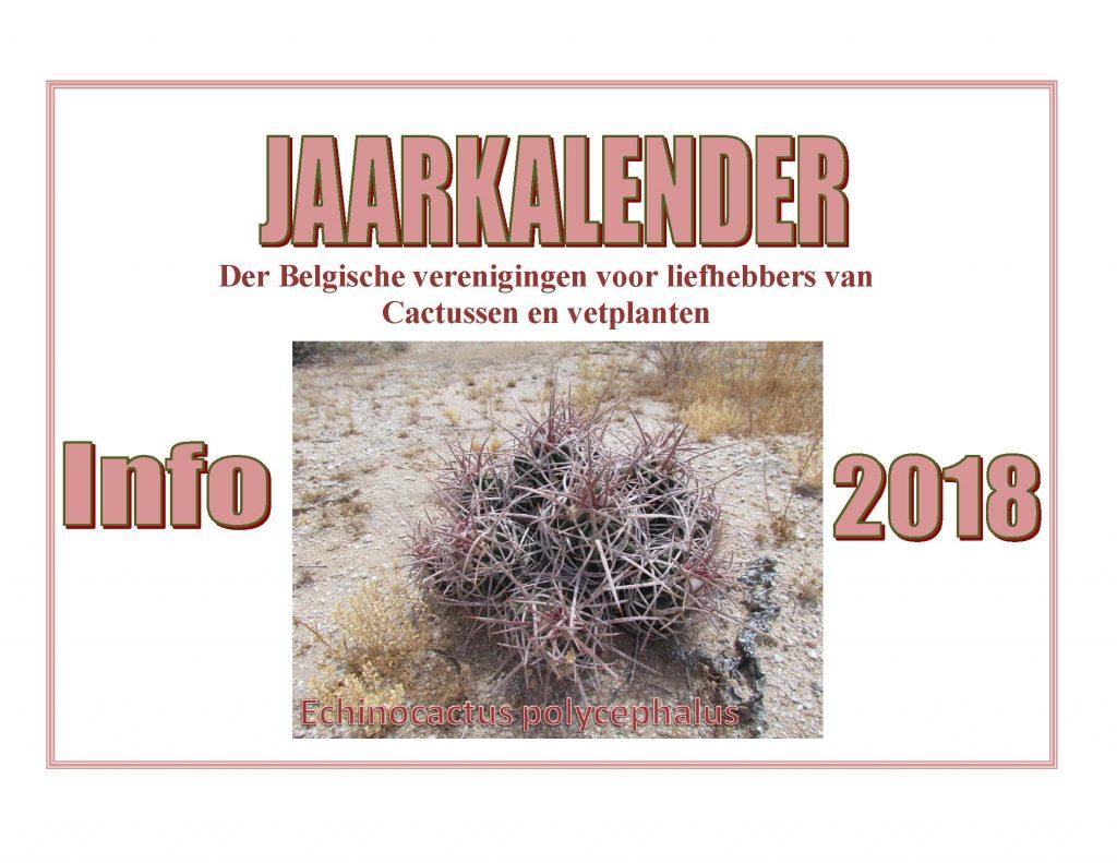 jaarkalender nationaal voor de cactusliefhebbers